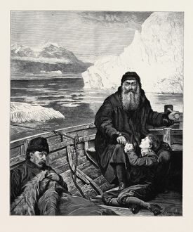 'THE LAST VOYAGE OF HENRY HUDSON' FROM THE PICTURE BY JOHN COLLIER; HENRY