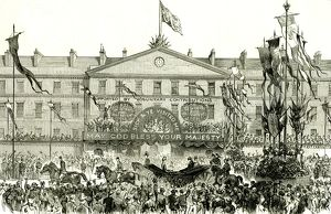 Whitechapel, London, U.K., 1887, the Royal procession passing the London hospital