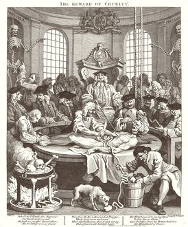 William Hogarth,English, (1697-1764), The Reward of Cruelty, 1751, etching and engraving