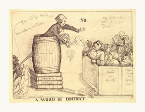 A word of comfort, Dent, William, active 1783-1793, en sanguine engraving 1790, a