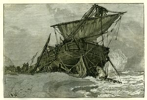 Wreck of the Tally Ho, Eastbourne, U.K., 1887