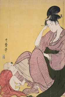 Yubi-sashi] = [Child pointing], Kitagawa, Utamaro (1753?-1806), (Artist), Date Created