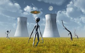 Alien and UFO activity at a nuclear power station