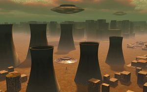 Aliens visiting a nuclear power station