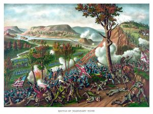 American Civil War print featuring the Battle of Missionary Ridge