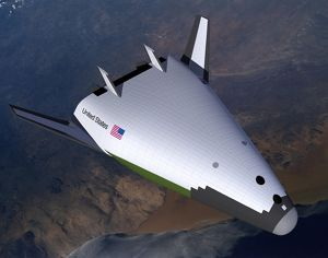Artist's concept of the X-33 after engine shutdown