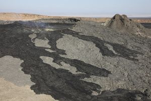 Basaltic lava flow from pit crater, Erta Ale volcano caldera, Danakil Depression