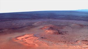 False color mosaic of Greeley Haven on Mars
