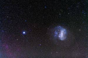 The Large Magellanic Cloud and bright star Canopus