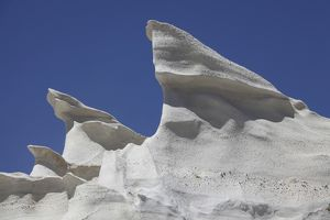 Sarakiniko white tuff formations sculpted by erosion, Milos, Greece