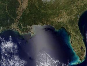 Satellite view of the Southeastern United States