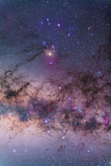 Scorpius with parts of Lupus and Ara regions of the southern Milky Way