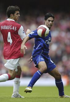 Arsenal v Everton 28/10/06 Arsenal's Francesc Fabregas and Everton's Mikel