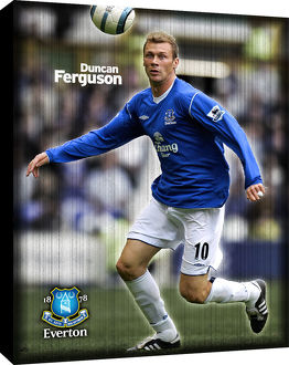 Duncan Ferguson Retro Canvas
