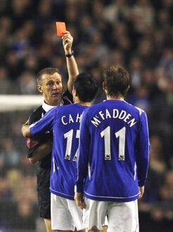 Everton v Arsenal Carling Cup Fourth Round Everton's James McFadden is sent off