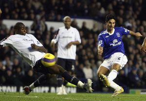 Everton v Bolton - Mikel Arteta scores his teams first goal