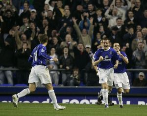 Everton v Fulham Alan Stubbs celebrates scoring for Everton