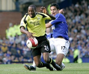 Everton v Manchester City Manchester City's DaMarcus Beasley in action against
