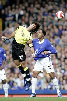 Everton v Manchester City Manchester City's Georgios Samaras challanges for a