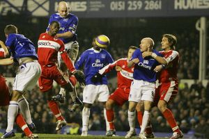 Everton v Middlesbrough Everton's Lee Carsley has a header on goal