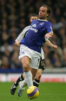 Everton v Newcastle United Andy Van der Meyde in action during the game
