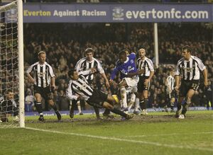 Everton v Newcastle United Everton's Victor Anichebe scores his second goal of