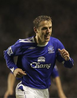 Everton v Newcastle United - Phil Neville celebrates after scoring