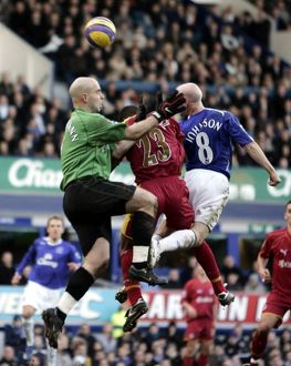 Everton v Reading Andy Johnson scores