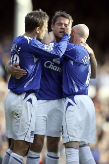 Everton v Sheffield United - 21/10/06 James Beattie celebrates scoring the second