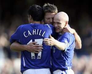 Everton v Sheffield United - 21/10/06 James Beattie celebrates scoring Everton's