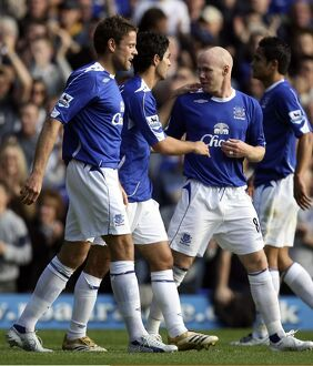 Everton v Sheffield United - 21/10/06 Mikel Arteta celebrates scoring the first goal