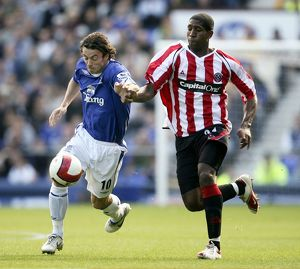 Everton v Sheffield United - 21/10/06 Simon Davies - Everton and Mikele Leigertwood