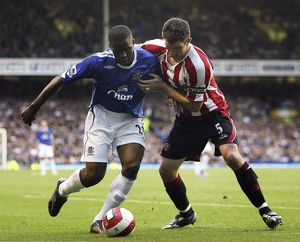 Everton v Sheffield United - 21/10/06 Victor Anichebe of Everton and Chris Morgan
