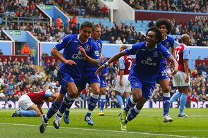 Football - Aston Villa v Everton Barclays Premier League