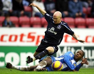 Football - Wigan Athletic v Everton Barclays Premier League - The JJB Stadium - 20/1/08