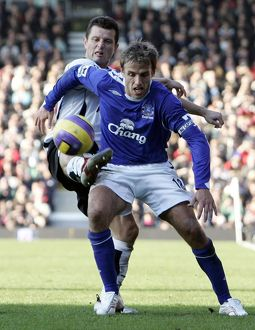 Fulham v Everton 4/11/06 Everton's Phil Neville in action against Fulham's