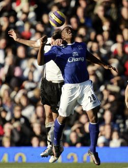Fulham v Everton - 4/11/06 Everton's Victor Anichebe in action against Fulham's