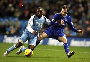 Manchester City v Everton - Darius Vassell and Everton's James McFadden