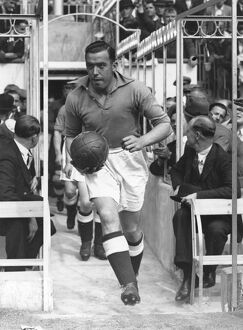 William 'Dixie' Dean runs out for Everton against Arsenal at Highbury