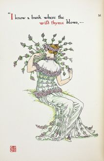 Flowers from Shakespeare's Garden by Walter Crane, 1909
