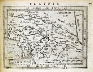 Illyria Map by Abraham Ortelius, 1603