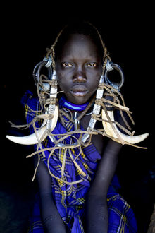 requests/young girl traditional dress mursi tribe mago