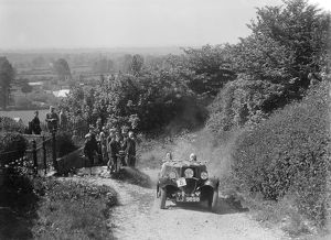 1934 Ford open 2-seater type taking part in a West Hants Light Car Club Trial, 1930s