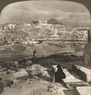 the acropolis athens greece 1902 creator
