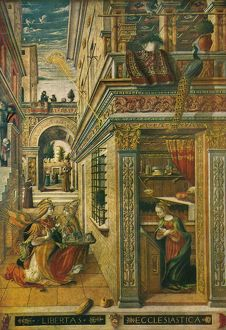 The Annunciation, with Saint Emidius, 1486, (1911). Artist: Carlo Crivelli