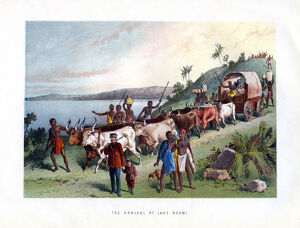 'The Arrival at Lake Ngami', 19th century. Artist: Unknown