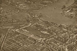 'The Three Basins of the East India Docks and the Blackwall Reach of the Thames
