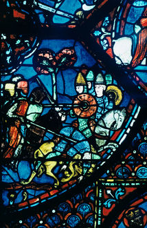 battle sahagun stained glass chartres cathedral