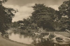 'Where the Beasts of Prehistory Lurk By the Lake in the Palace Grounds', c1935