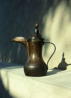 brass hornbill spouted coffee pot dallah type
